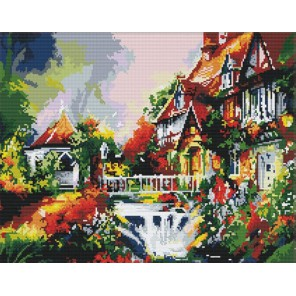Фонтан у дома Алмазная вышивка (мозаика) Color Kit