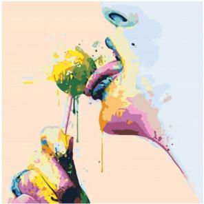 Чупа-чупс 80х80 Раскраска картина по номерам на холсте