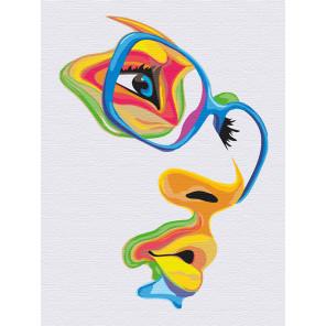 Девушка. Яркий взгляд Раскраска картина по номерам на холсте с неоновыми красками AAAA-RS012