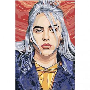 Портрет Billie Eilish Раскраска картина по номерам на холсте