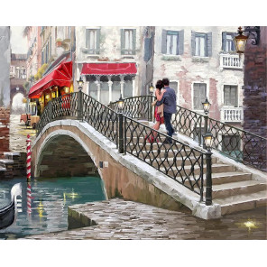 Городской мост Раскраска картина по номерам на холсте MG2205