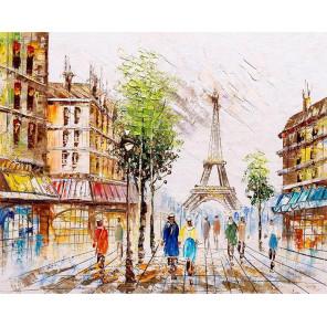 Париж в лучах света Раскраска картина по номерам на холсте MG2163