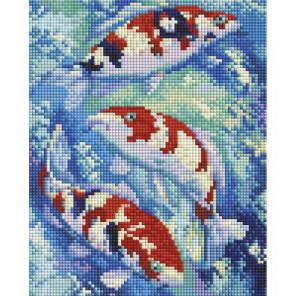 Карпы Кои Алмазная вышивка мозаика на подрамнике Белоснежка 542-ST-S