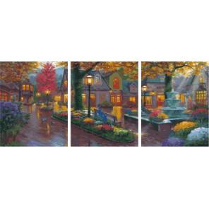 Пробуждение нового дня Триптих Раскраска картина по номерам на холсте РХ5291