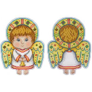 Ангел-хранитель Набор для вышивания на пластиковой канве МП Студия Р-158