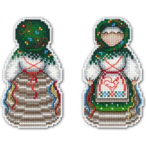 Желанница. Оберег Набор для вышивания на пластиковой канве МП Студия Р-160