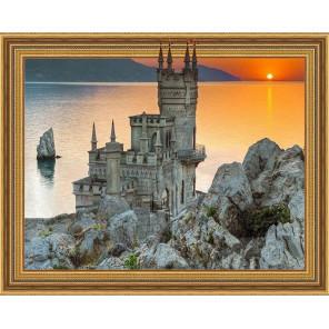 Закат в Крыму Алмазная мозаика вышивка на подрамнике Molly KM0650