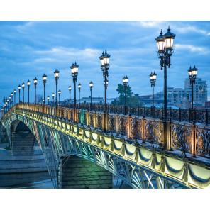 Патриарший мост Алмазная мозаика вышивка на подрамнике Molly KM0880