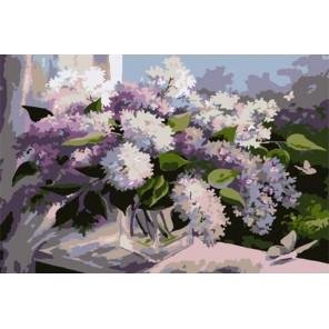 Полет в сиреневую весну 20х30 см Раскраска картина по номерам на холсте PKD79005