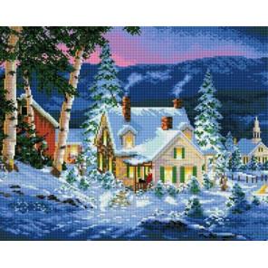 Зимний вечер Алмазная мозаика вышивка на подрамнике GF0824