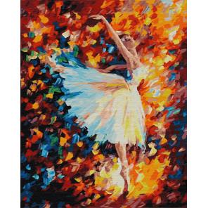 Балерина в красках Раскраска картина по номерам на холсте ZX 22901