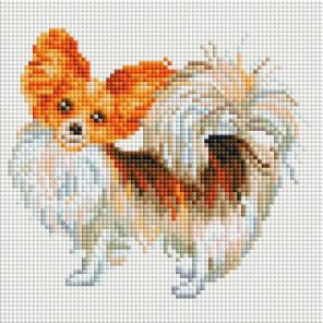 Собака-бабочка Алмазная мозаика на подрамнике 525-ST-S
