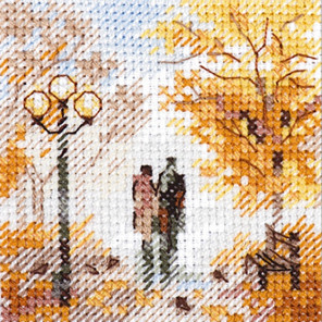 Осень в городе. Старый парк Набор для вышивания Алиса 0-220