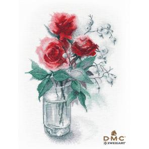Розы и снежноягодник Набор для вышивания Овен 1353