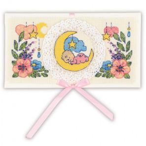 С рождением малыша. Конверт Набор для вышивания Риолис 1893АС