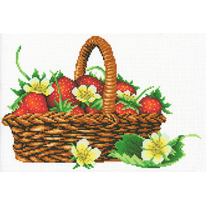 Урожай клубники Канва с рисунком для вышивки МП Студия СК-110