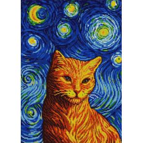 Рыжий кот Гоша Ткань с нанесенным рисунком для вышивки бисером Конек 1365
