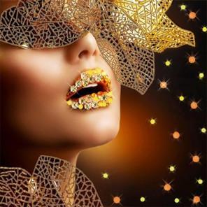 Блеск твоих губ Ткань с нанесенным рисунком для вышивки бисером Конек 8503
