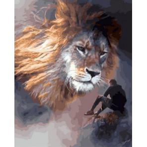 Под защитой льва Раскраска картина по номерам на холсте GX38146