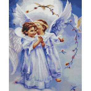 Милые ангелочки Алмазная мозаика вышивка на подрамнике GF4445