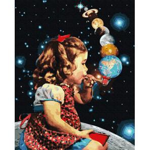 Космические пузыри Раскраска картина по номерам на холсте GX38377
