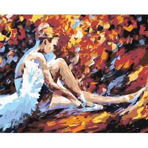Балерина Раскраска картина по номерам на холсте LA24