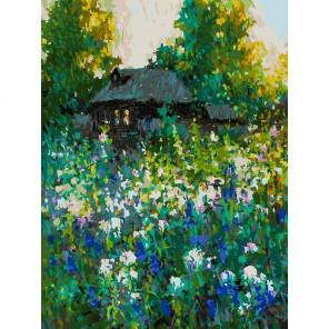Домик Раскраска картина по номерам на холсте 374-AS