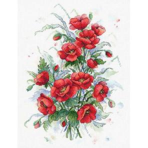 Пламенные цветы Набор для вышивания МП Студия А-037