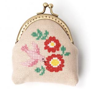 Розовая птица Набор для вышивания кошелька XIU Crafts 2860408