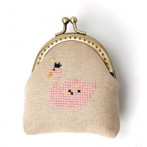 Розовый лебедь Набор для вышивания кошелька XIU Crafts 2860403