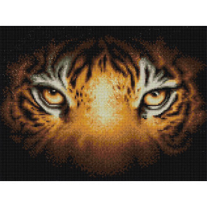 Тигриный взгляд Алмазная вышивка мозаика АЖ-1827