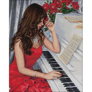 Пианистка Алмазная вышивка мозаика АЖ-1836