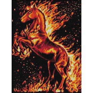 Огненный конь Алмазная вышивка мозаика АЖ-1850