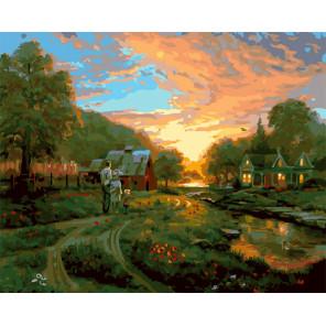 Деревенская жизнь Раскраска картина по номерам на холсте GX25473
