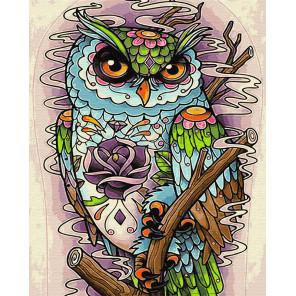Взгляд совы Раскраска картина по номерам на холсте GX29394