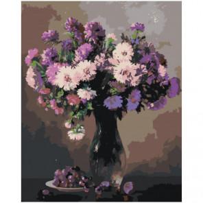 Сирень в вазе 100х125 Раскраска картина по номерам на холсте