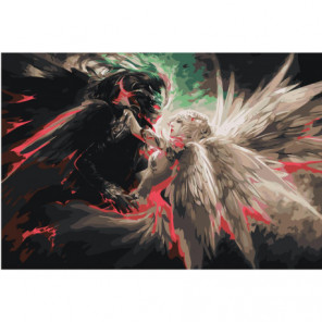 Ангел и демон 80х120 Раскраска картина по номерам на холсте
