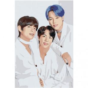 Джин Чонгук BTS KPop Раскраска картина по номерам на холсте