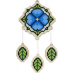 Ловец снов Незабудка Алмазная мозаика подвеска Гранни Wood W0409