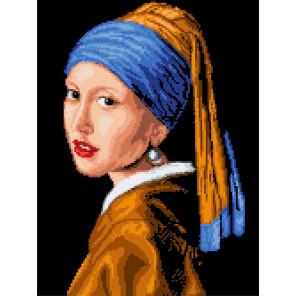 Девушка с жемчужиной. Ян Вермер Канва для вышивки Каролинка КК 065