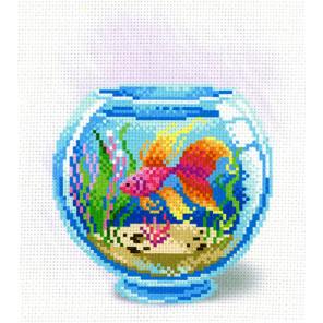 Взгляд золотой рыбки Канва с рисунком для вышивки МП Студия СК-104