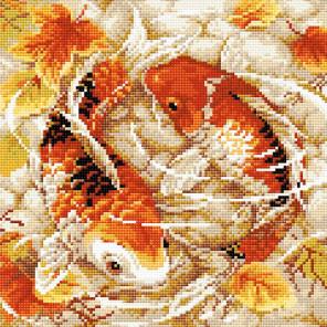 Карпы Алмазная вышивка мозаика Риолис АМ0055