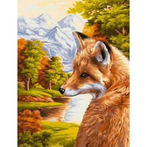 Лисичка на воле Раскраска картина по номерам на холсте GX39084