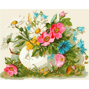 Полевые цветы Раскраска картина по номерам на холсте GX38914