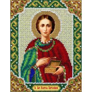 Святой Целитель Пантелеймон Набор для частичной вышивки бисером Паутинка