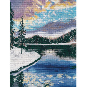 Морозный вечер Набор для вышивания Овен 1390