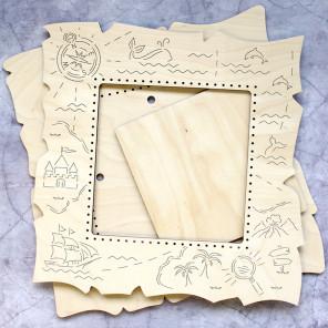 Карта большая Рамка деревянная для вышивки ОР-231