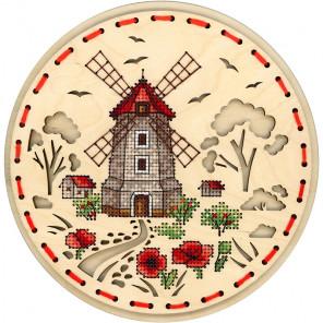 Сельская мельница Набор для вышивания на деревянной основе МП Студия О-021