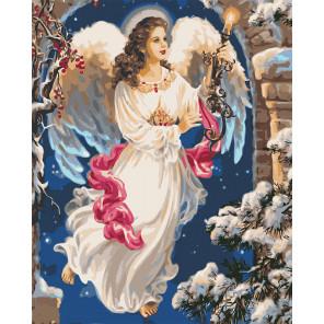 Рождественский ангел Раскраска картина по номерам на холсте U8022