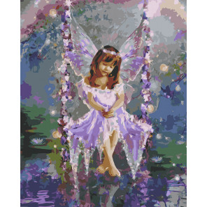 Маленькая фея Раскраска картина по номерам на холсте U8023